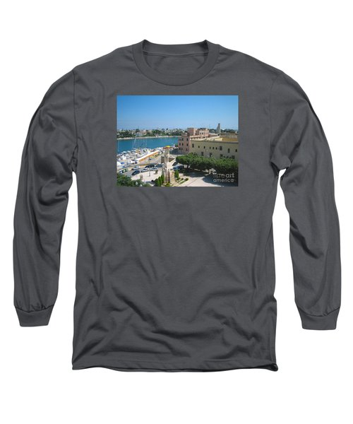 Italian Harbor- Brindisi, Apulia Long Sleeve T-Shirt
