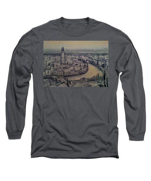Italy Verona Long Sleeve T-Shirt by Maja Sokolowska