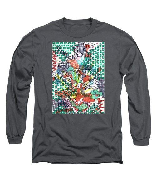 It's A Jungle Out There Long Sleeve T-Shirt by Lisa Noneman