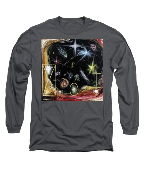 Long Sleeve T-Shirt featuring the painting It's Full Of Stars  by Ryan Demaree