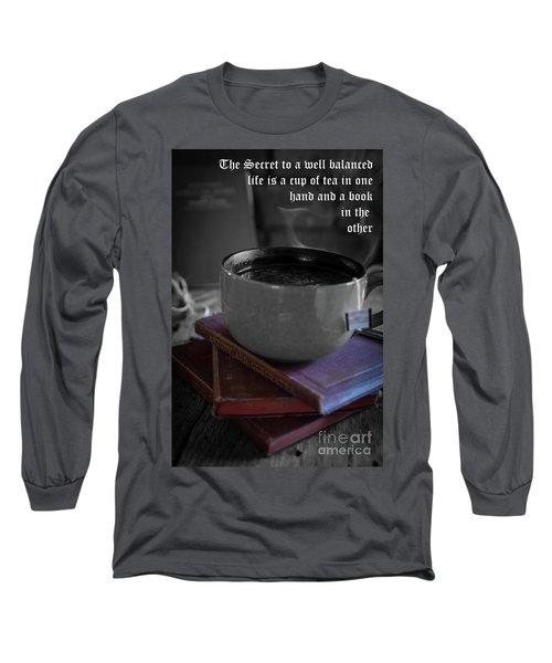 Long Sleeve T-Shirt featuring the photograph It's Tea Time by Deborah Klubertanz