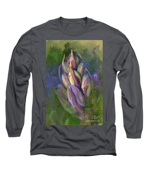 Itty Bitty Baby Bluebells Long Sleeve T-Shirt by Lois Bryan
