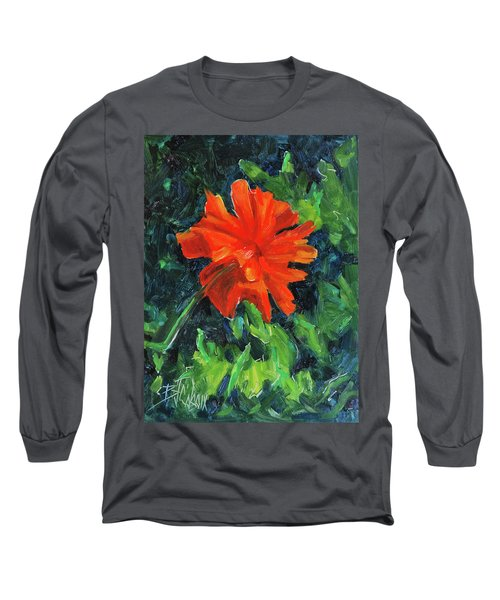 Long Sleeve T-Shirt featuring the painting I've Got My Red Dress On by Billie Colson