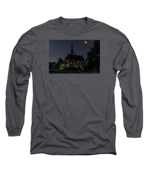 Ivy Chapel Under The Blood Moon Long Sleeve T-Shirt by Stephen  Johnson
