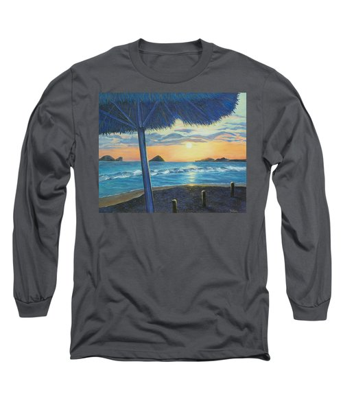 Long Sleeve T-Shirt featuring the painting Ixtapa by Susan DeLain