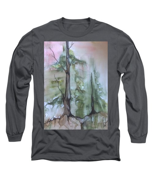 Jackfish Lake Long Sleeve T-Shirt by Pat Purdy