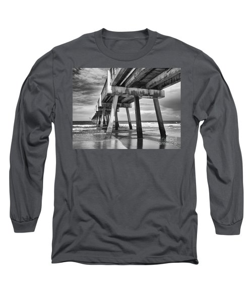 Jacksonville Beach Florida Usa Pier Long Sleeve T-Shirt by Vizual Studio