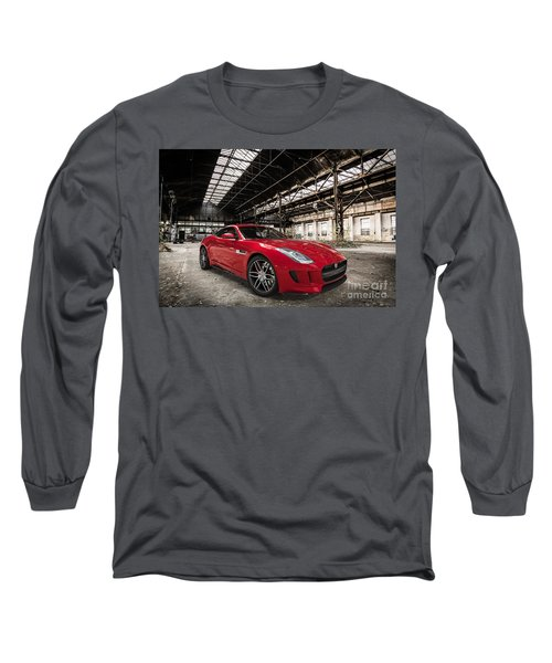 Jaguar F-type - Red - Front View Long Sleeve T-Shirt