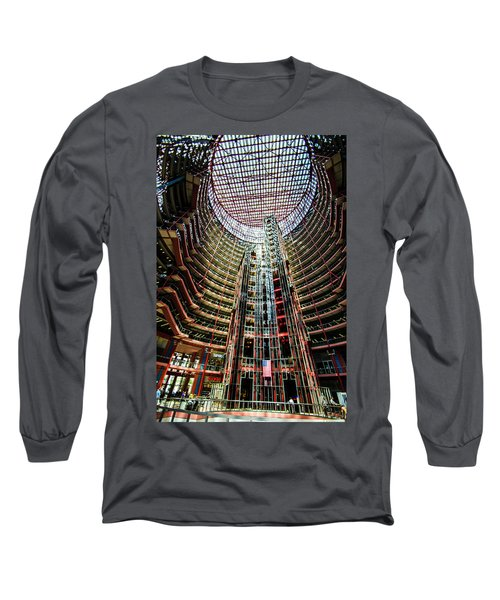 Long Sleeve T-Shirt featuring the photograph James R Thompson Center Interior Chicago by Deborah Smolinske
