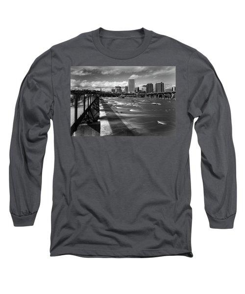 Long Sleeve T-Shirt featuring the photograph James River Richmond  by Alan Raasch