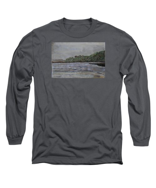 Long Sleeve T-Shirt featuring the painting Janjira Palace by Vikram Singh