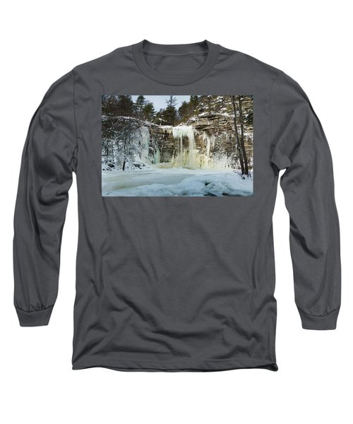 January Morning At Awosting Falls Long Sleeve T-Shirt