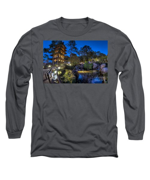 Japan Epcot Pavilion By Night. Long Sleeve T-Shirt