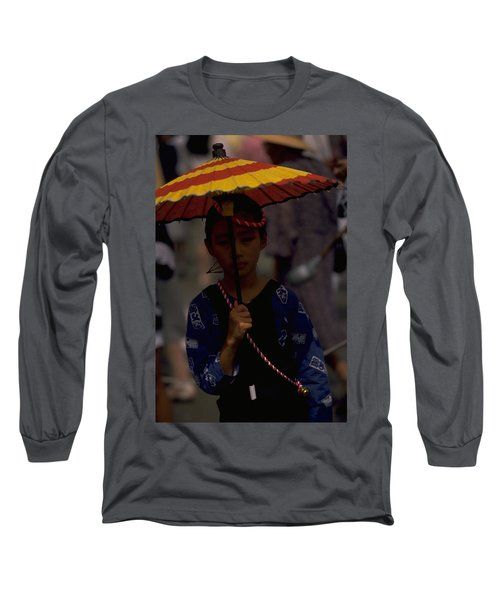 Long Sleeve T-Shirt featuring the photograph Japanese Girl by Travel Pics