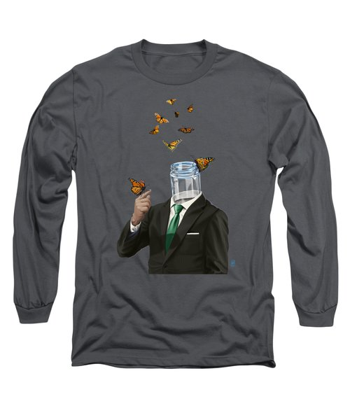 Long Sleeve T-Shirt featuring the drawing Jar by Rob Snow