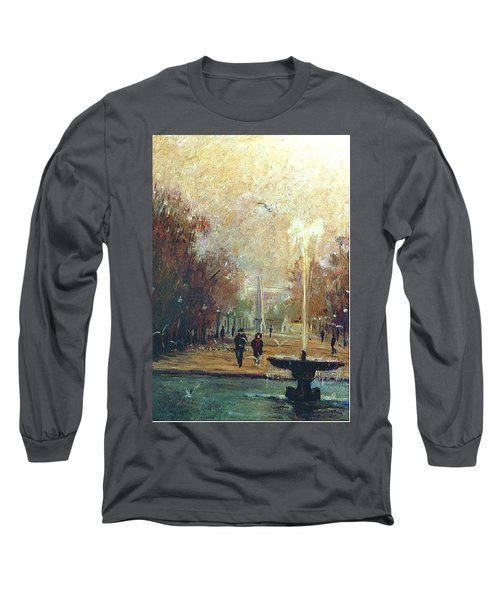 Jardin Des Tuileries Long Sleeve T-Shirt by Walter Casaravilla