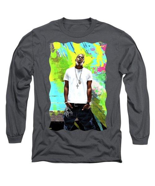 Jay Z - Celebrity Art Long Sleeve T-Shirt