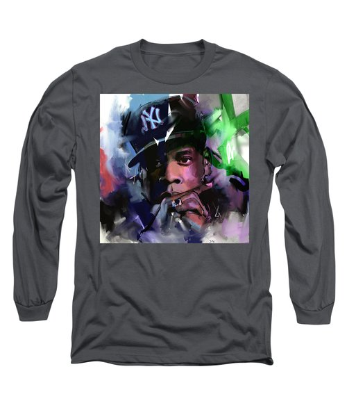 Jay Z Long Sleeve T-Shirt by Richard Day