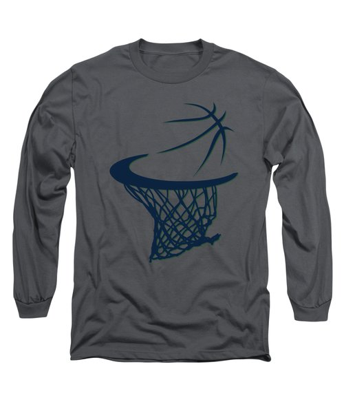 Jazz Basketball Hoop Long Sleeve T-Shirt by Joe Hamilton