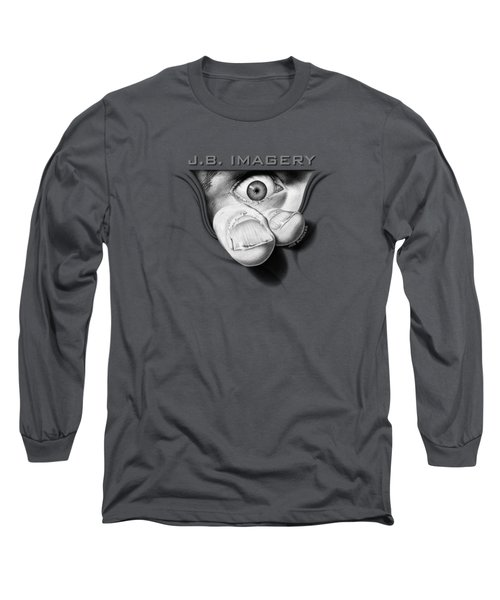 Long Sleeve T-Shirt featuring the drawing J.b. Imagery by Joe Burgess