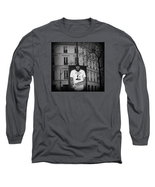 Long Sleeve T-Shirt featuring the photograph je descends de Darwin Exhibition by Katie Wing Vigil