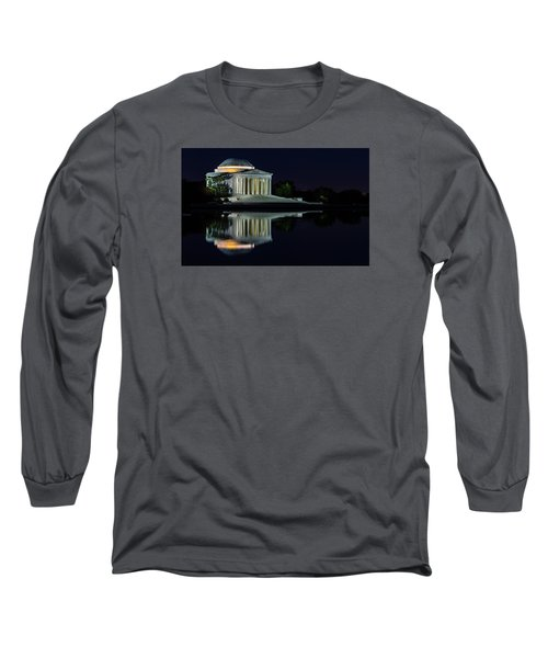 The Jefferson At Night Long Sleeve T-Shirt by Ed Clark