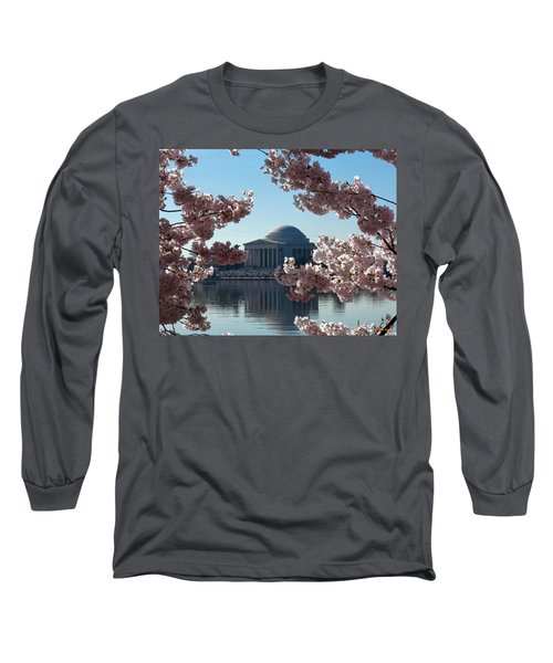 Jefferson Memorial At Cherry Blossom Time On The Tidal Basin Ds008 Long Sleeve T-Shirt