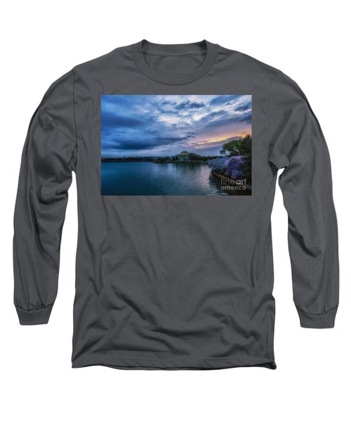 Jefferson Memorial Dawn Long Sleeve T-Shirt by Thomas R Fletcher