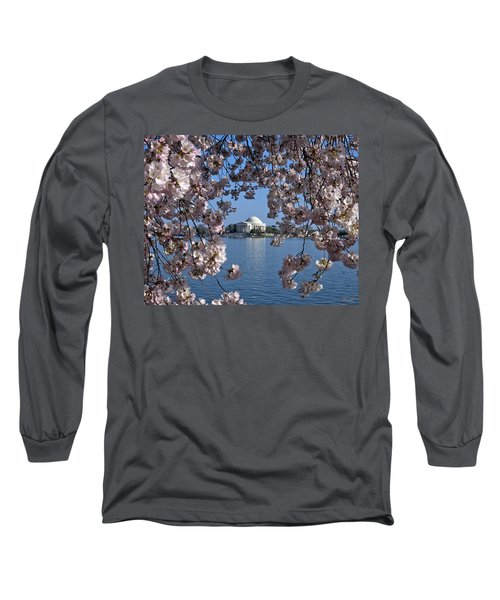 Jefferson Memorial On The Tidal Basin Ds051 Long Sleeve T-Shirt