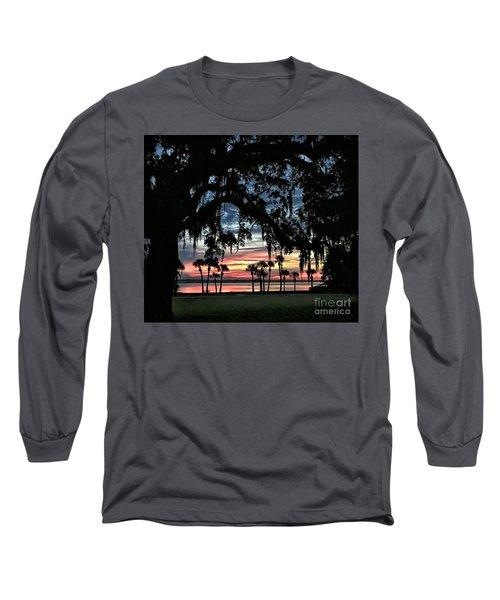 Jekyll Island Georgia Sunset Long Sleeve T-Shirt