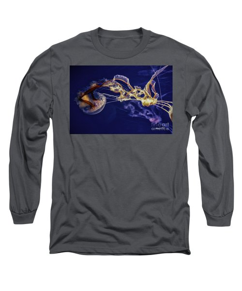 Jelly Fish Rose Of The Sea Long Sleeve T-Shirt