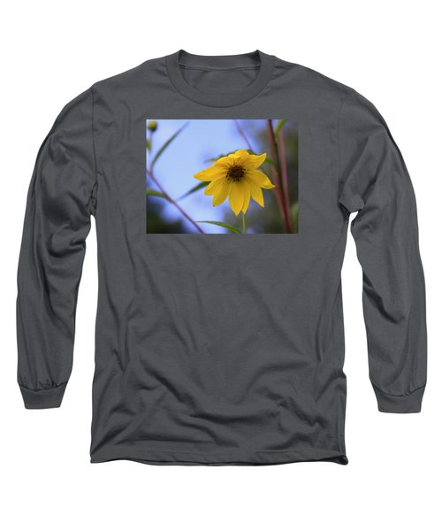 Jerusalem Artichoke And Blue Sky Long Sleeve T-Shirt by Larry Capra