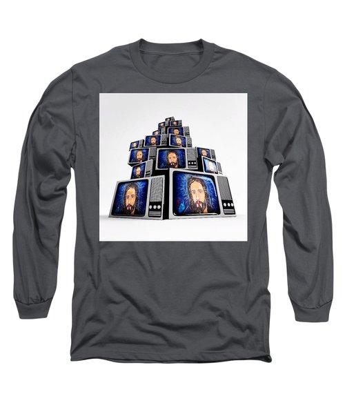 Jesus On Tv Long Sleeve T-Shirt