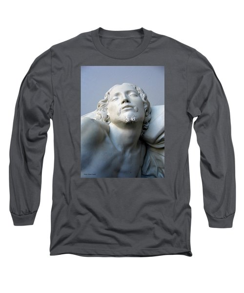 Long Sleeve T-Shirt featuring the sculpture Jesus by Suhas Tavkar
