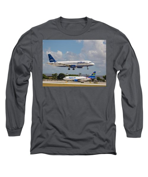 Jetblue Over Spirit Air Long Sleeve T-Shirt