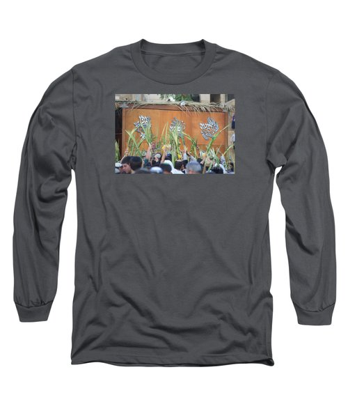 Jewish Sunrise Prayers At The Western Wall, Israel 4 Long Sleeve T-Shirt