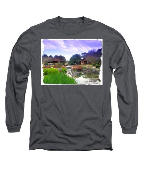 Long Sleeve T-Shirt featuring the photograph Jg-0021 Kotaji Lantern by Digital Oil