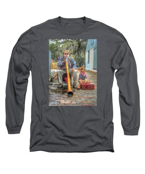 Jim Olds And Tanner Long Sleeve T-Shirt by Marion Johnson