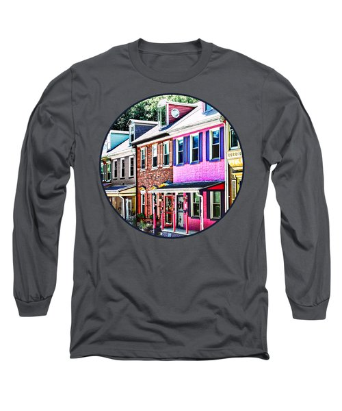 Jim Thorpe Pa - Colorful Street Long Sleeve T-Shirt