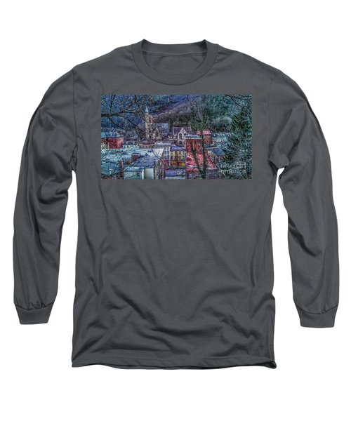 Jim Thorpe Pennsylvania In Winter #1 Long Sleeve T-Shirt