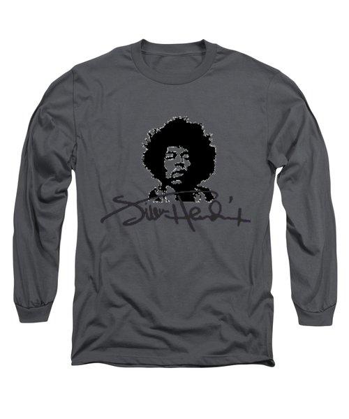 Jimi Hendrix Purple Haze Long Sleeve T-Shirt by David Dehner