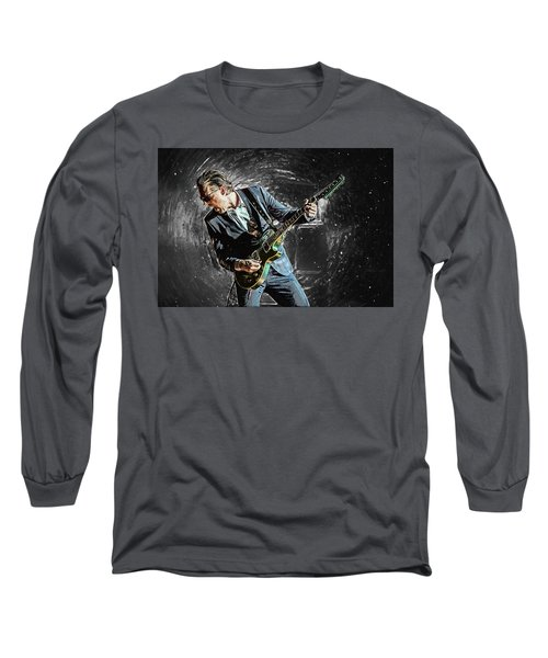 Joe Bonamassa Long Sleeve T-Shirt by Taylan Apukovska
