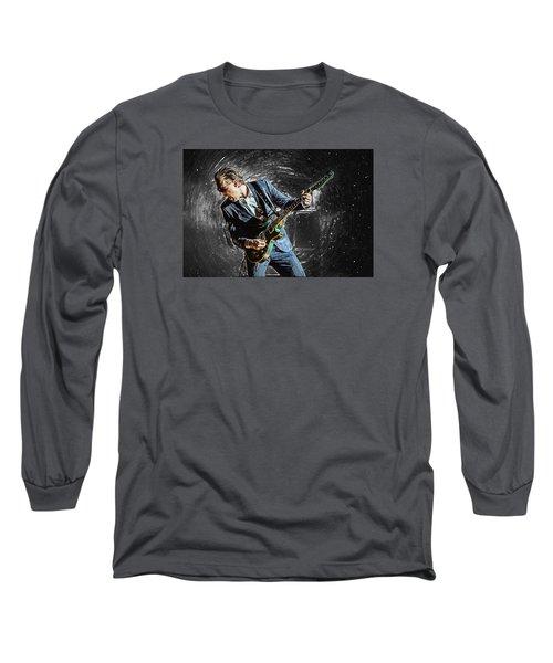 Joe Bonamassa Long Sleeve T-Shirt by Taylan Apukovska