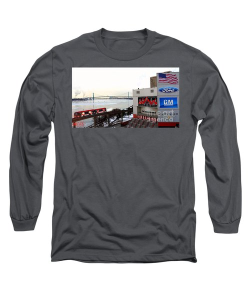 Joe Louis Arena Long Sleeve T-Shirt by Michael Rucker