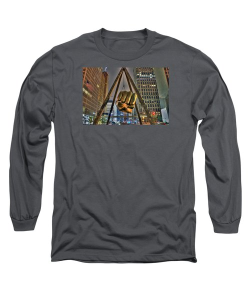 Joe Louis Fist Detroit Mi Long Sleeve T-Shirt