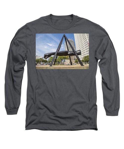 Joe Louis Fist In Detroit In Color  Long Sleeve T-Shirt
