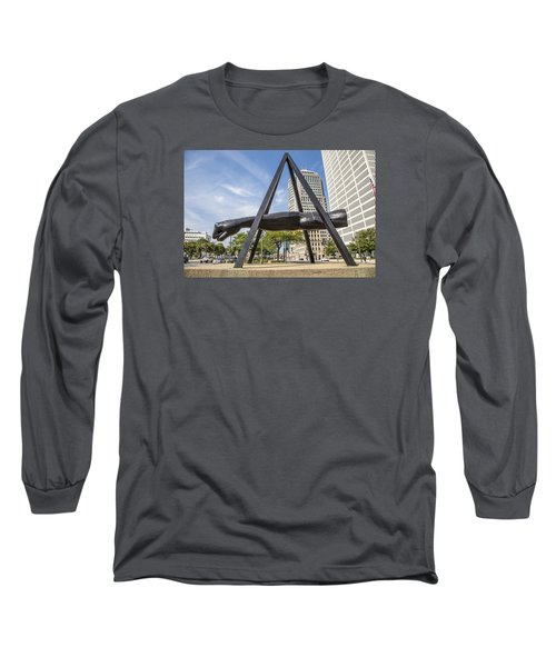 Joe Louis Fist In Detroit In Color  Long Sleeve T-Shirt