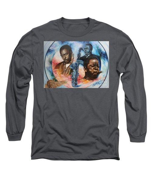 Blaa Kattproduksjoner     John Coltrane - Jazzed  Long Sleeve T-Shirt