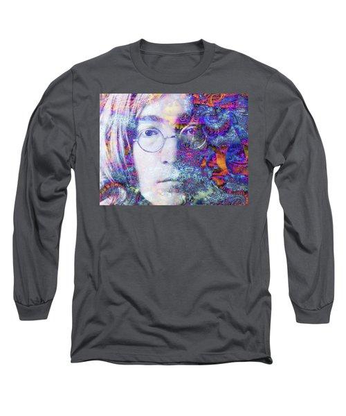 Long Sleeve T-Shirt featuring the digital art John by Robert Orinski
