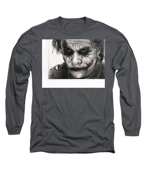 Joker Face Long Sleeve T-Shirt by James Holko